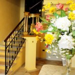 The staircase leads to two double bedrooms and two junior suites